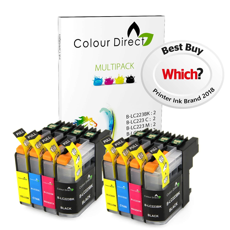 8 Colour Direct LC223 Tinta Compatible Cartuchos Por Brother DCP-J4120DW , DCP-J562DW , MFC-J4420DW , MFC-J480DW , MFC-J4620DW , MFC-J4625DW , ...