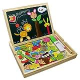 Fajiabao Educativi Giocattolo Magnetica Lavagnetta Puzzle di Legno Doppio Lato Gioco per Bambini 3 Anni