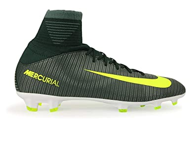 948f599731df Nike Kids Mercurial Superfly V CR7 FG Seaweed Volt Hasta White Shoes -