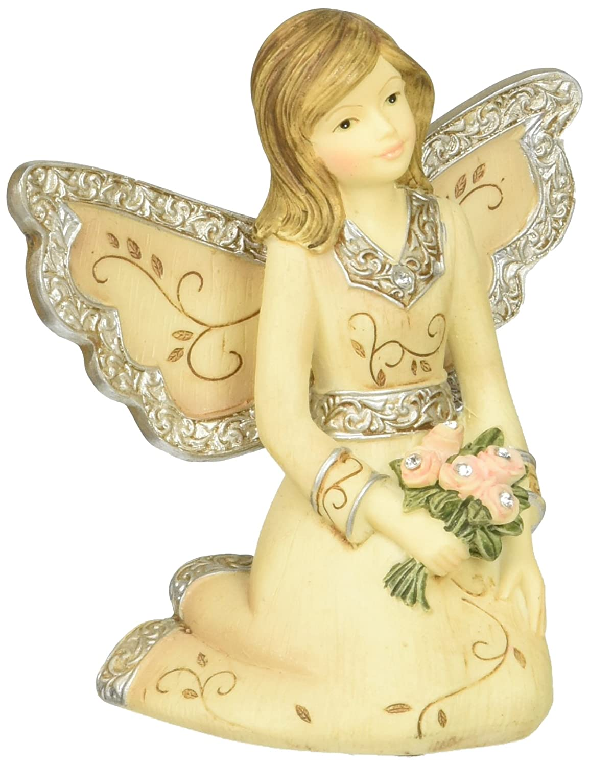 Elements April Monthly Angel Figurine, Includes Diamond Birthstone, 3-Inch