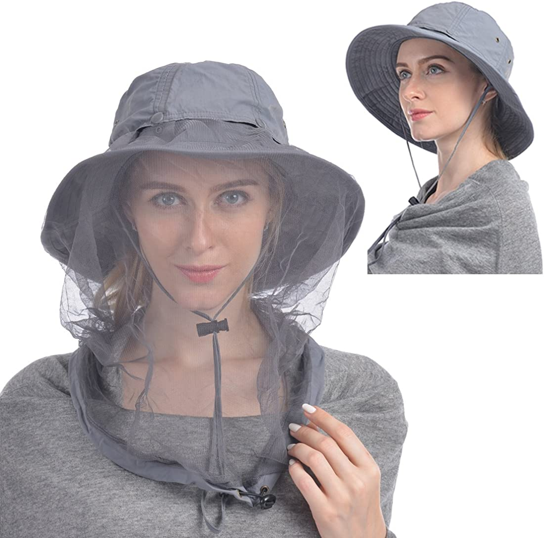 Hiking Fishing Camping Wasps Bees etc UK StocK Insects Sun Protective  Hat