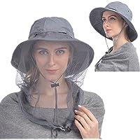 USHAKE Sombrero de red de mosquitos, sombrero