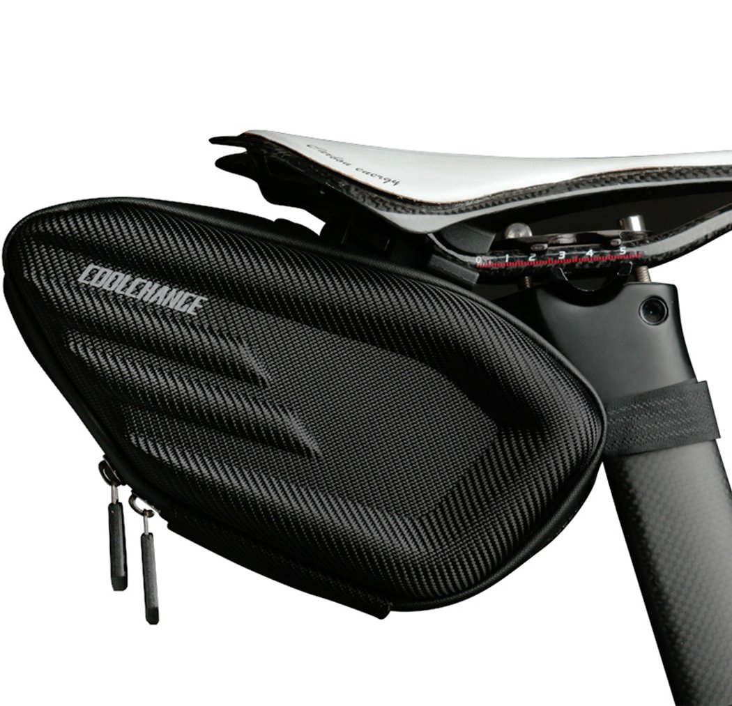 Cool Change Bike Wedge Saddle Bag, 3D Shell Waterproof Mountain Road Bicycle Under Seat Pack, Reflective Cycling Rear Large Storage Pouch