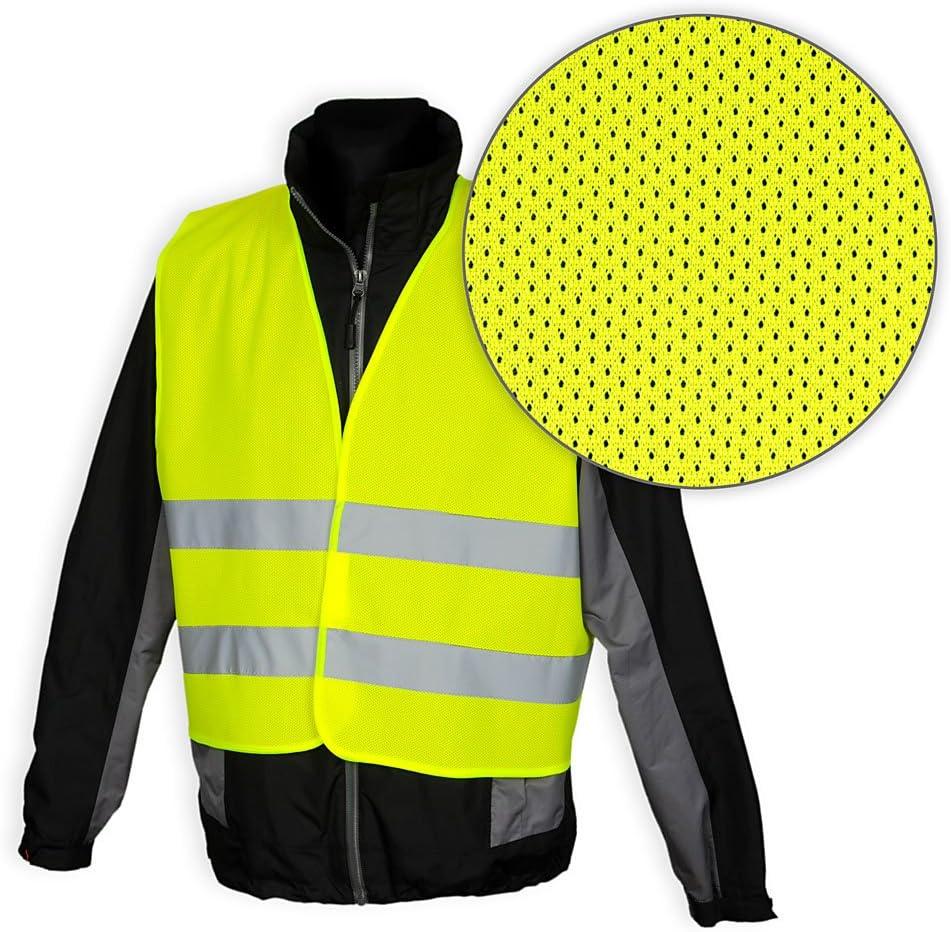 Robex Warnwesten 4er Set Gelb Pn En 471 Zertifiziert Reflektorstreifen Und Klettverschluss Auto