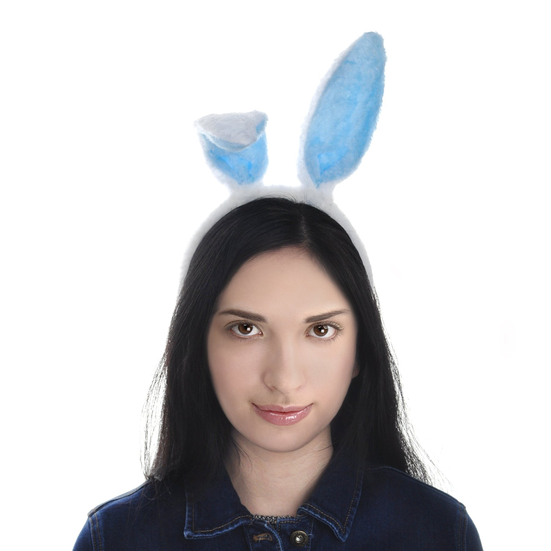 Toptie Easter Bunny Ears Headband, Soft Touch Plush Cosplay Party Suppliers-White-1pc by TOPTIE (Image #8)