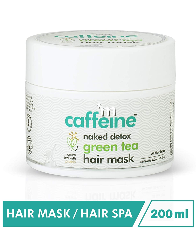 mCaffeine naked detox green tea hair mask
