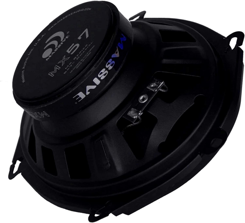 "4/"" MX Series 2-Way Coaxial Car Speakers Massive Audio MX4 60W RMS"