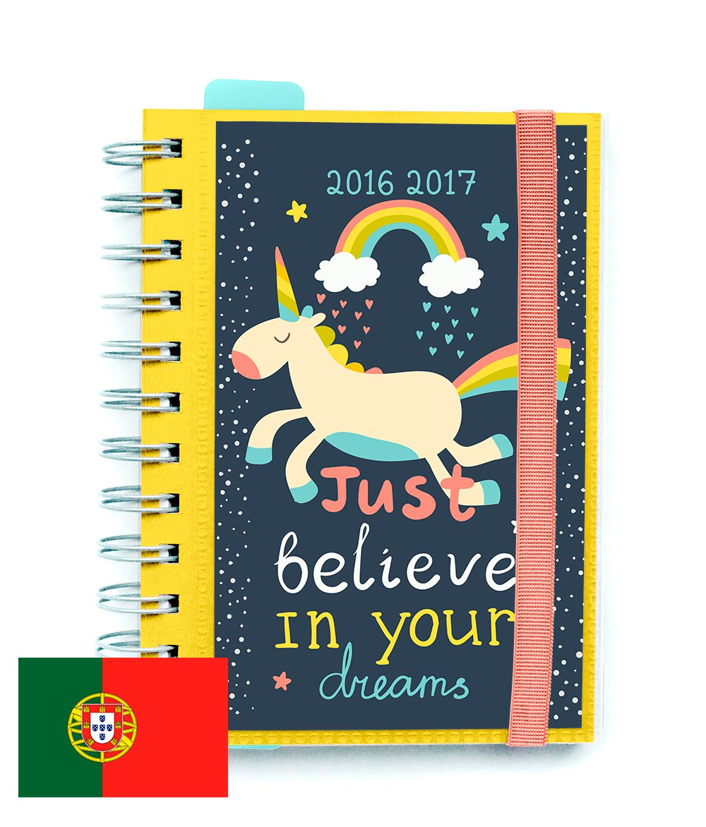 Agenda Escolar Dia Pagina 2016/2017 Be Happy (PT): Amazon.es ...