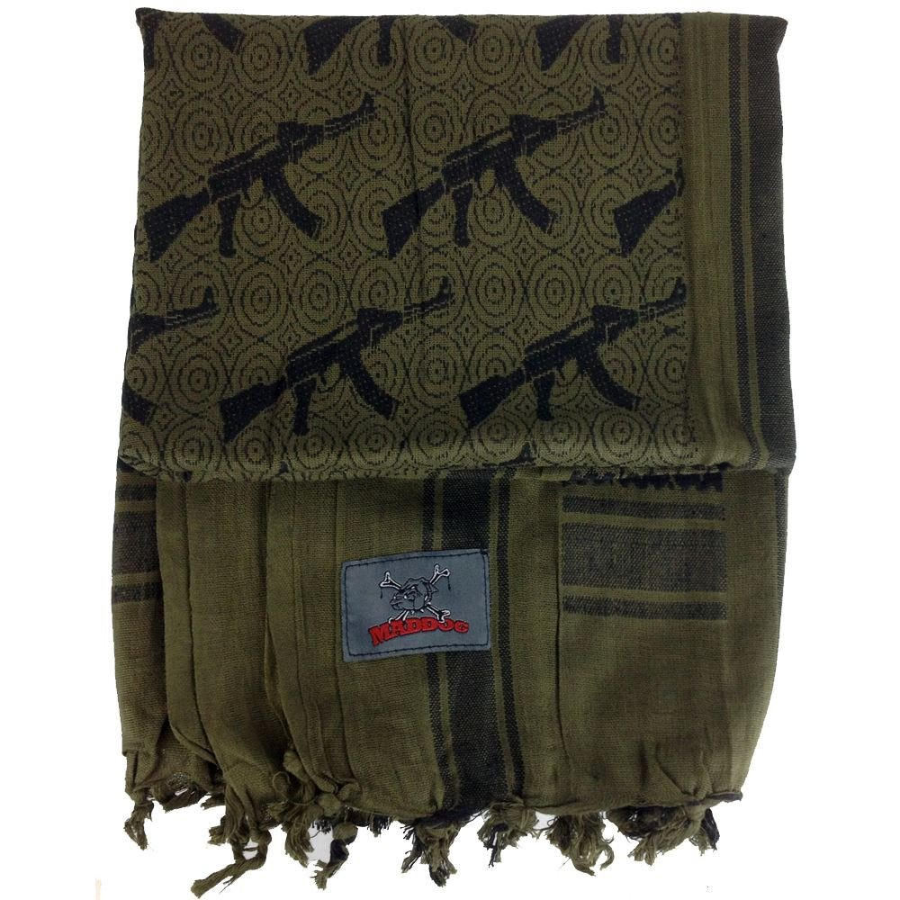 Maddog Sports Shemagh Tactical Desert Scarf - AK47 - Olive by MAddog