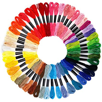 5f84b85ecb4ee B&S FEEL Embroidery Floss Premium Rainbow Color Cross Stitch Threads  Friendship Bracelets Floss Crafts Floss (50 Skeins Per Pack)