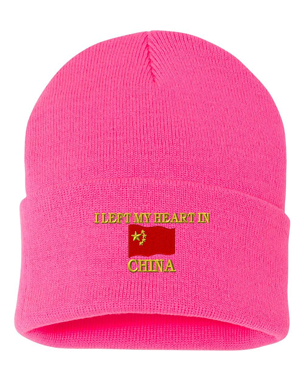 I LEFT MY HEART IN CHINA Custom Personalized Embroidery Embroidered Beanie