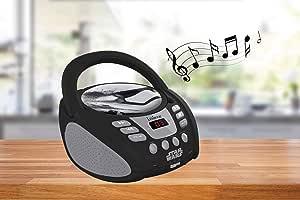 Lexibook Star Wars Rey Poe Finn BB-8 Radio CD Player, Heapdhones Jack, AUX-in Jack, AC or Battery-Operated, Dark/White, RCD108SW
