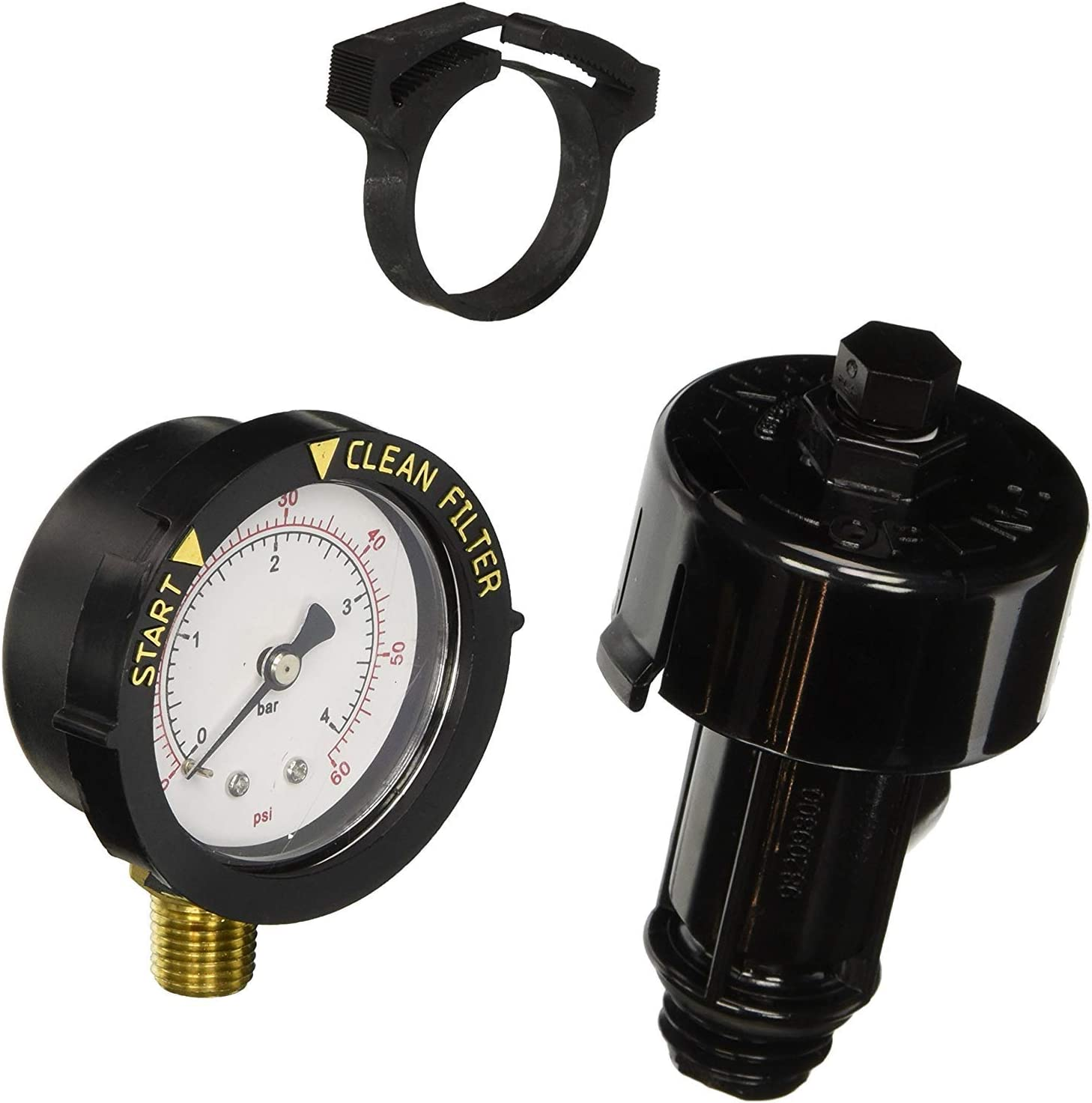 Pentair 190058 FNS Clean /& Clear 0-60 psi Pool Filter Pressure Gauge Replacement