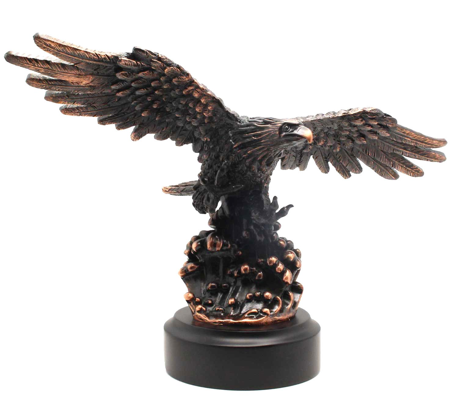 L7 Enterprises 13'' Bald Eagle Flying Above Cresting Waves Figurine | Sculpture | Figurine by L7 Enterprises