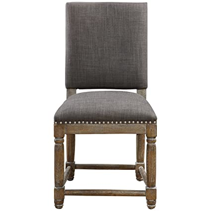 Amazon Com Uttermost 23215 Laurens Accent Chair Gray Kitchen Dining