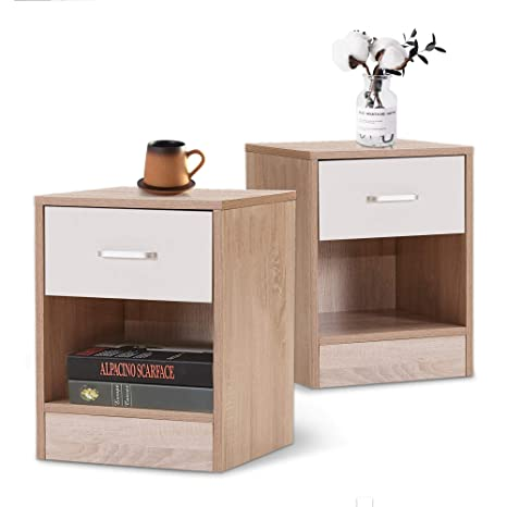 Amazon Com Modern Nightstands Bedroom Set Of 2 Small Kids