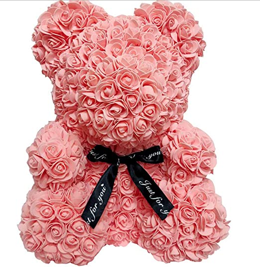 25CM romantic artificial rose bear for party diy valentine gift PE rose doll
