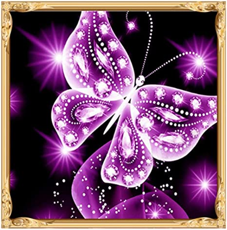 Clearance B DIY 5D Diamond Painting Kit Full Drill Square for Adults Kids Cuekondy Colorful Butterfly Rhinestone Embroidery Arts Craft for Home Wall Decor