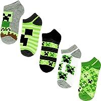 Minecraft Boys No Show Socks - Minecraft by Mojang - Kids 5-Pairs of Socks Set