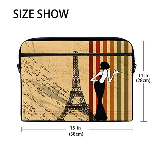 638eed02aa08 Amazon.com: WXLIFE Vintage Paris Eiffel Tower Woman 13 13.3 14 Inch ...