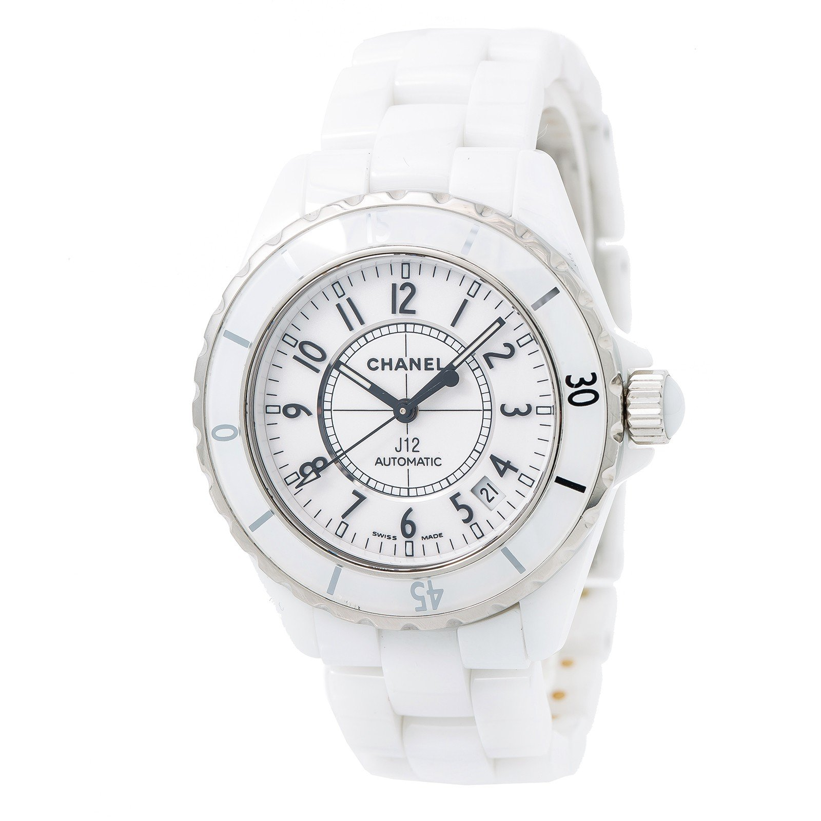 Chanel J12 swiss-automatic womens Watch H0970 (Certified Pre-owned)