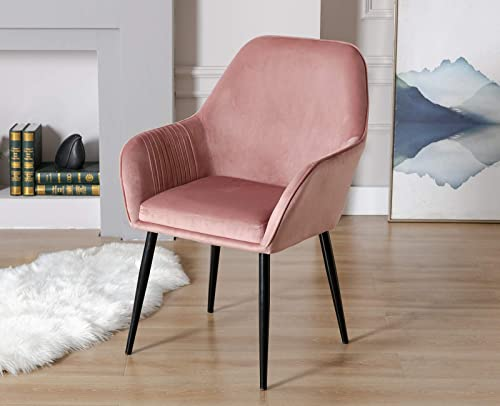 Janoray Modern Accent Chair Velvet Arm Chair