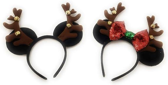 Diadema con orejas de Mickey Mouse, inspirada en Minnie Mouse, con ...