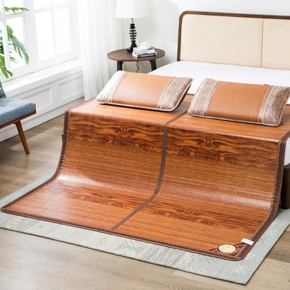 Zzaini Double Sided Summer Sleeping Mat, Folding Topper Pad Rattan Topper Pad-B 180x200cm(71x79inch) by Zzaini (Image #6)