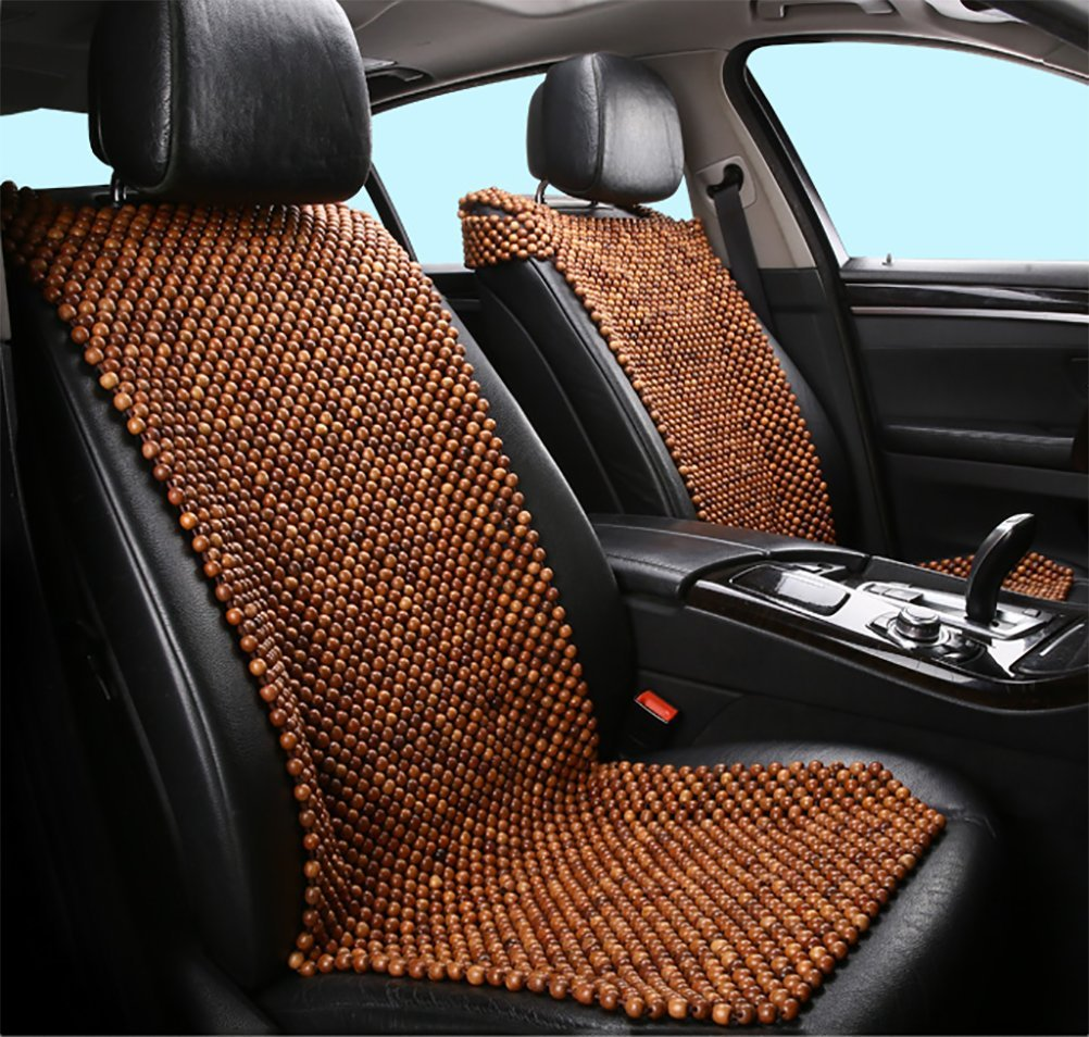 DIELIAN Rosewood Car Van Seat Cover Natural Wood Comfort Massage Cool Car Seat Cushion,Beige by DIELIAN (Image #1)