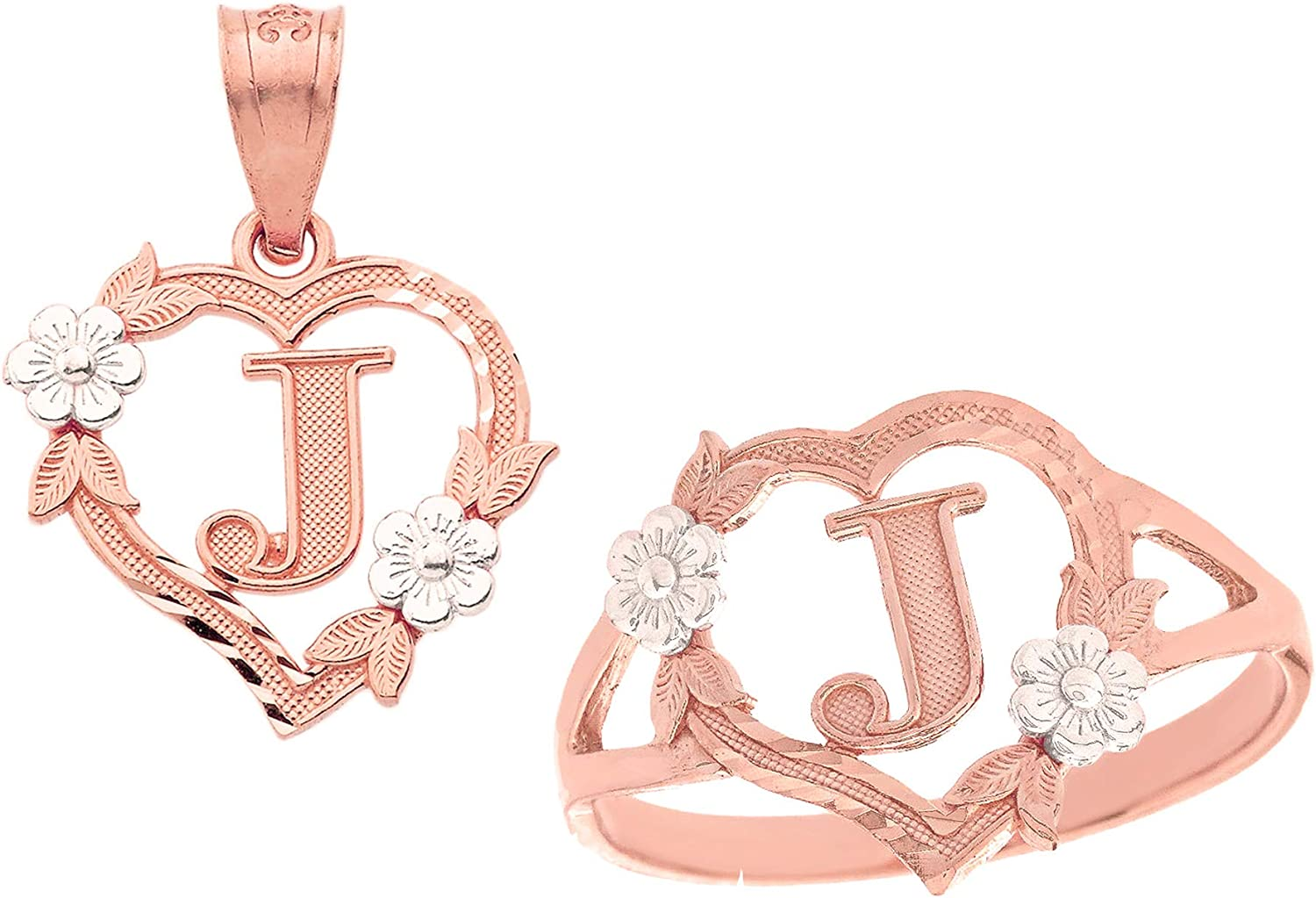 NWT Justice Girls Heart Initial Hanging Jewelry Holder Set Choose Letter!