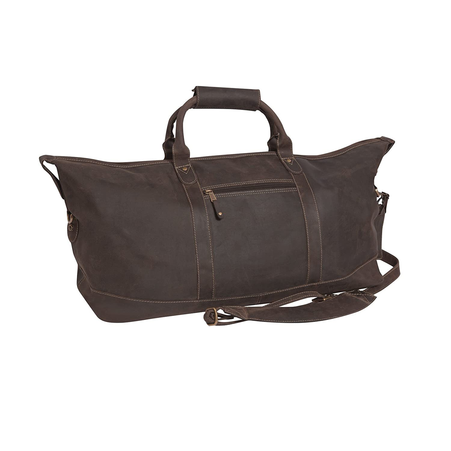 8ad1ff237bc Amazon.com | Canyon Outback Little River 22-inch Leather Duffel Bag, Distressed  Brown | Travel Duffels