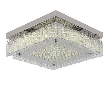 ceiling light ceiling lamp modern flush mount chandelier dimmable led 4000k bedroom light fixtures k9 crystal - Bedroom Light Fixtures