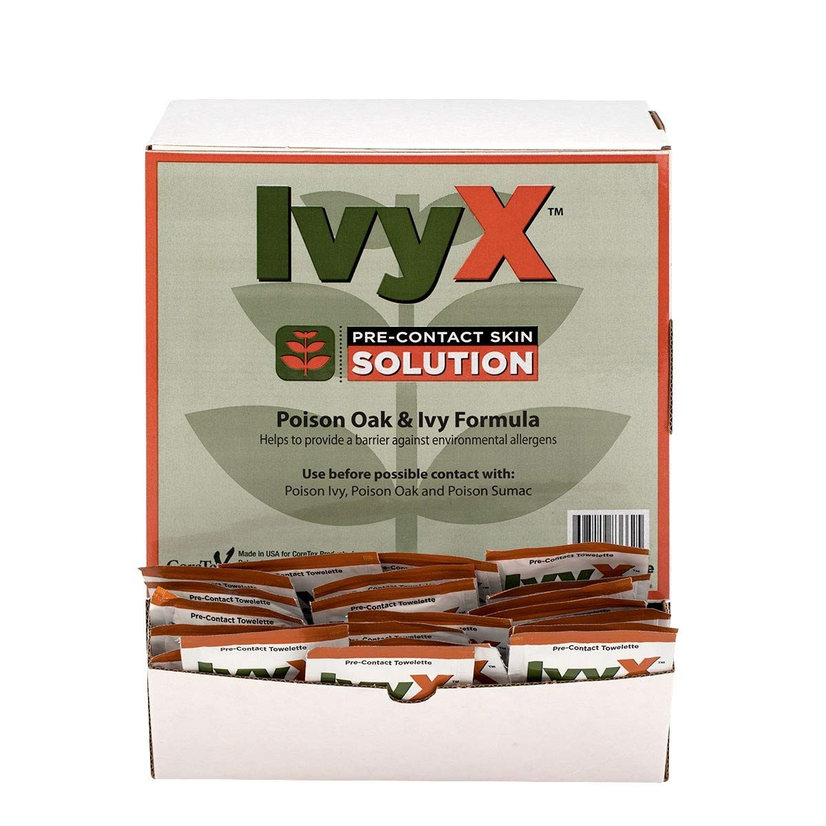 IvyX Pre-Contact Lotion Packets, 50/Box - Skin Protection from Poison Plants Poison Oak & Ivy Formula by Brite Safety