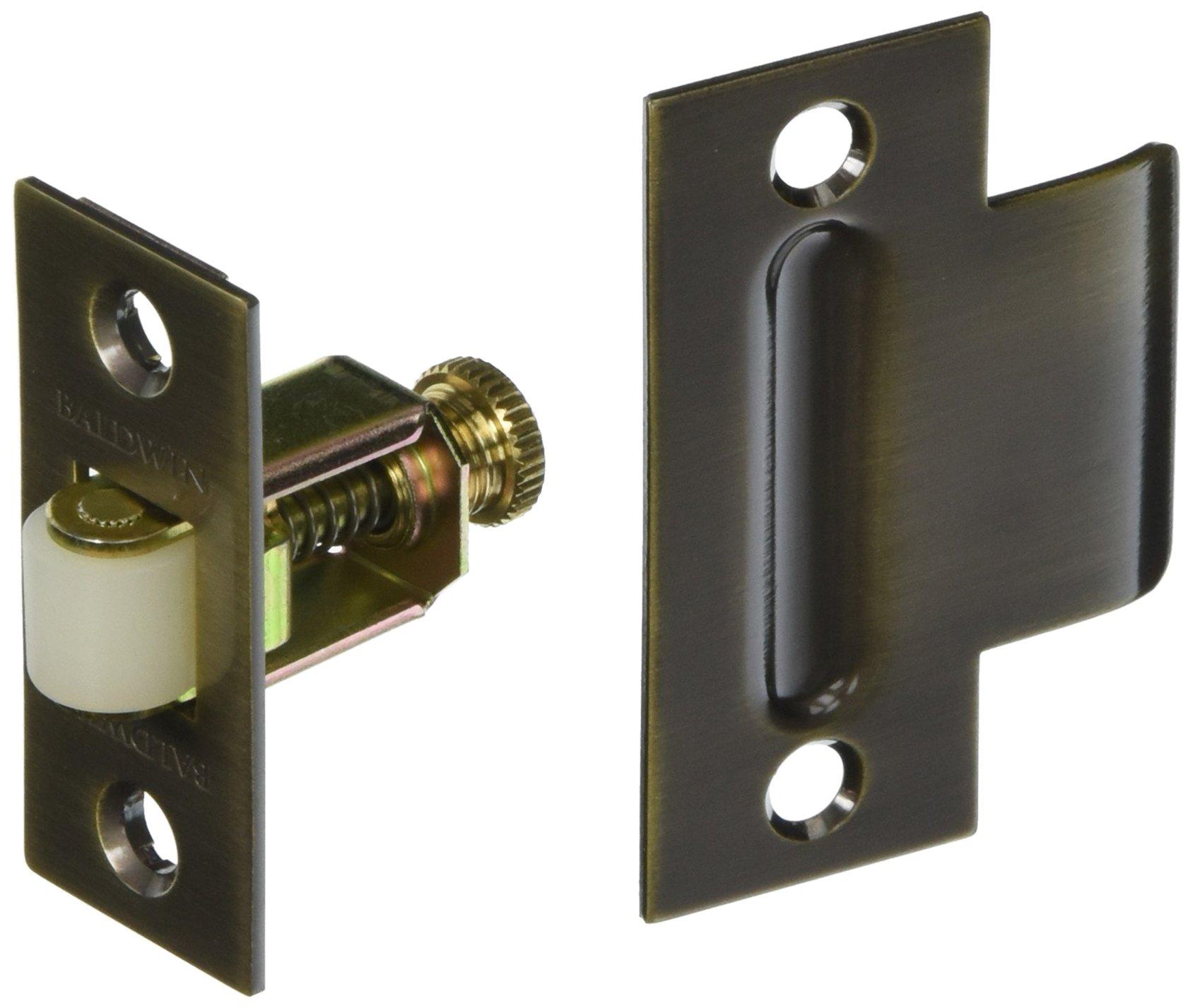 Baldwin 0440050 Adjustable Roller Catch, Antique Brass