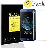 [2-Pack] Huawei Honor V9 Pellicole Protettive , MENGGOOD Proteggi Schermo in Vetro Temperato Protezione di Display Cristallo Trasparente Invisibile per Huawei Honor V9 - 9H Durezza