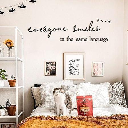 Hoagard Wall Letters Everyone Smiles In The Same Language Muurteksten Muurdecoratie Muurstickers Amazon Co Uk Baby