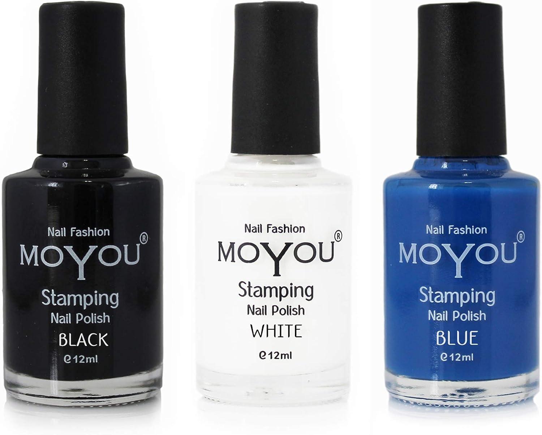 MoYou - Esmalte de uñas (pack con 3 unidades): Amazon.es: Belleza