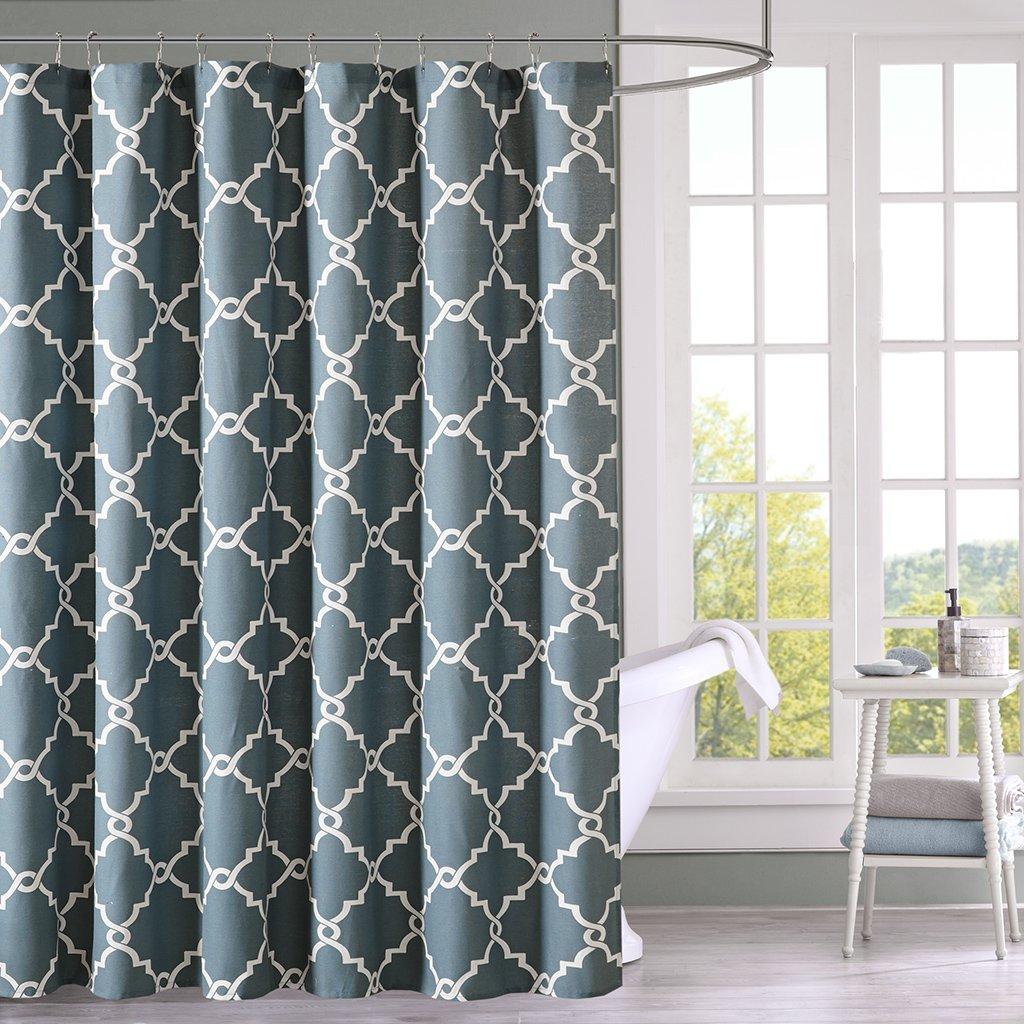 Amazon.com: Madison Park MP70-1286 Saratoga Shower Curtain, 72 x 72 ...