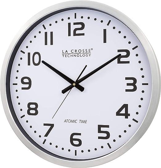 La Crosse Technology 404 1220 20 Inch Atomic Wall Clock Extra Large 20 In La Crosse Technology Amazon Ca Home Kitchen