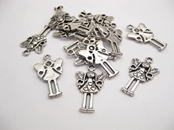 10 tibetan silver fairy charms pendants 25mm x 15mm ch011 amazon 10 tibetan silver fairy charms pendants 25mm x 15mm ch011 mozeypictures Images