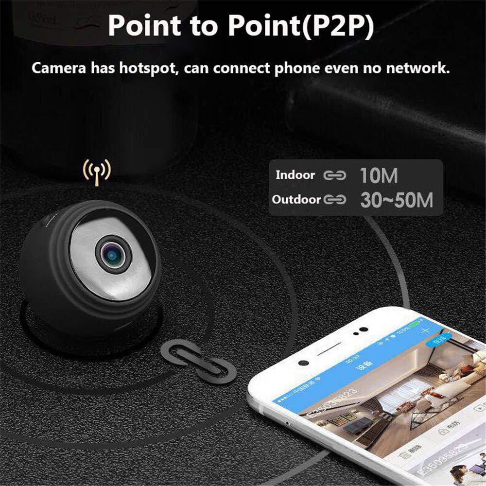 LEDU Cámara Oculta Mini Espía Cámaras HD 1080P 150 Grado Granangular Portátil Seguridad Niñera CAM con Detección De Movimiento Cámara De Vídeo Visión ...