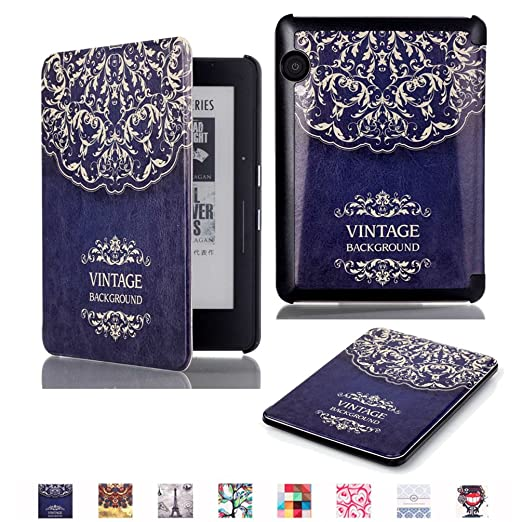 7 opinioni per Kindle Voyage Smart Case,Slim Smart Cover Protettiva Custodia in Pelle per 6''