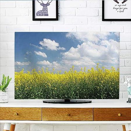 Auraisehome protege tu televisor con dibujos animados ilustración de palmeras y cangrejos en la playa, diseño