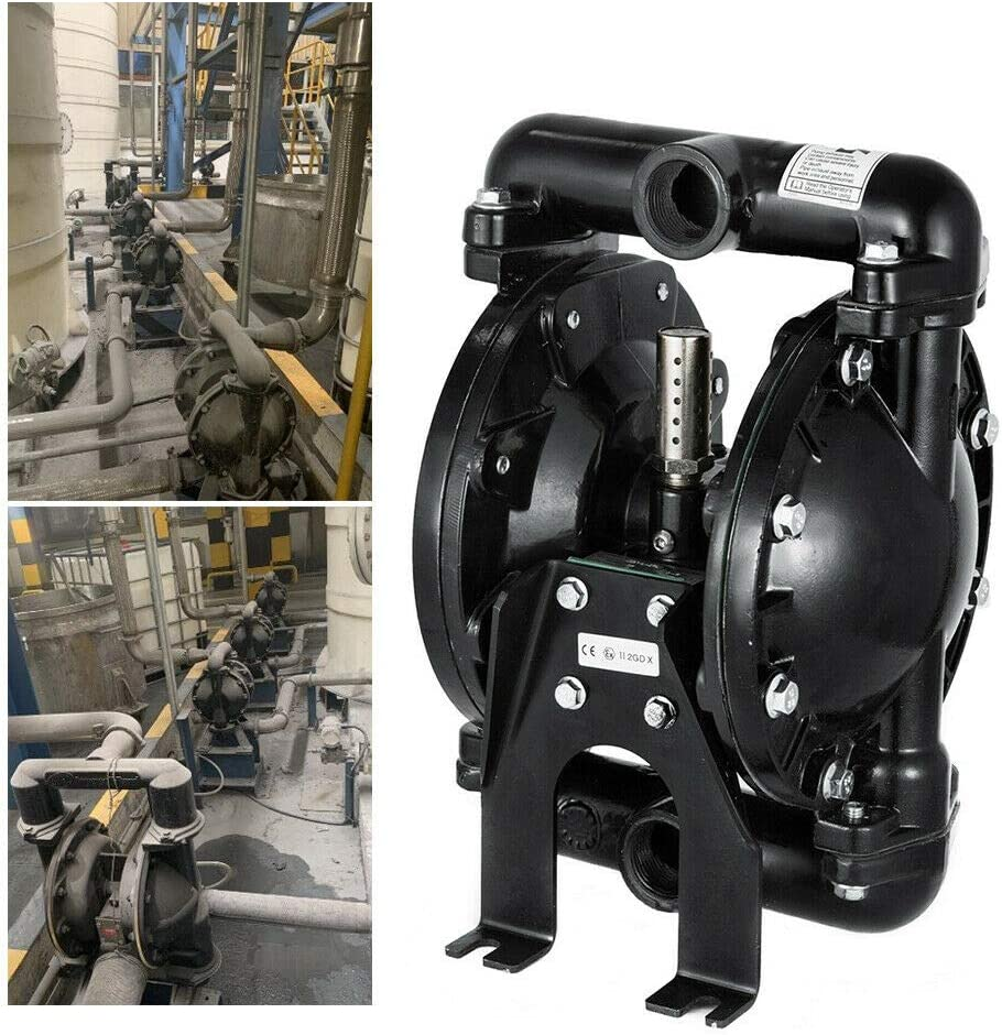 QBY4-25L Air-Operated Double Diaphragm Pump 1 inch Inlet and Outlet Aluminum 35 GPM for Industrial Water Transfer Use
