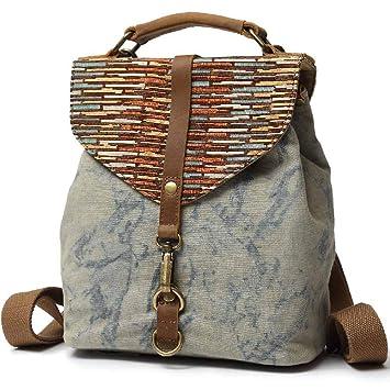72500da82 Amazon.com | Kemy's Girls Canvas Backpack Purse Marble Daypacks Bags Small  School Bookbag Travel Handbag for Traveling, Blue | Kids' Backpacks