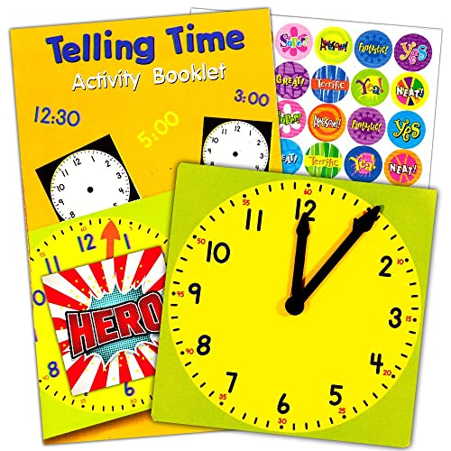 Learning Playground Teaching Clock Set 1 Clock For Teaching Time Activity Booklet And Over 50 Reward Stickers For Kids