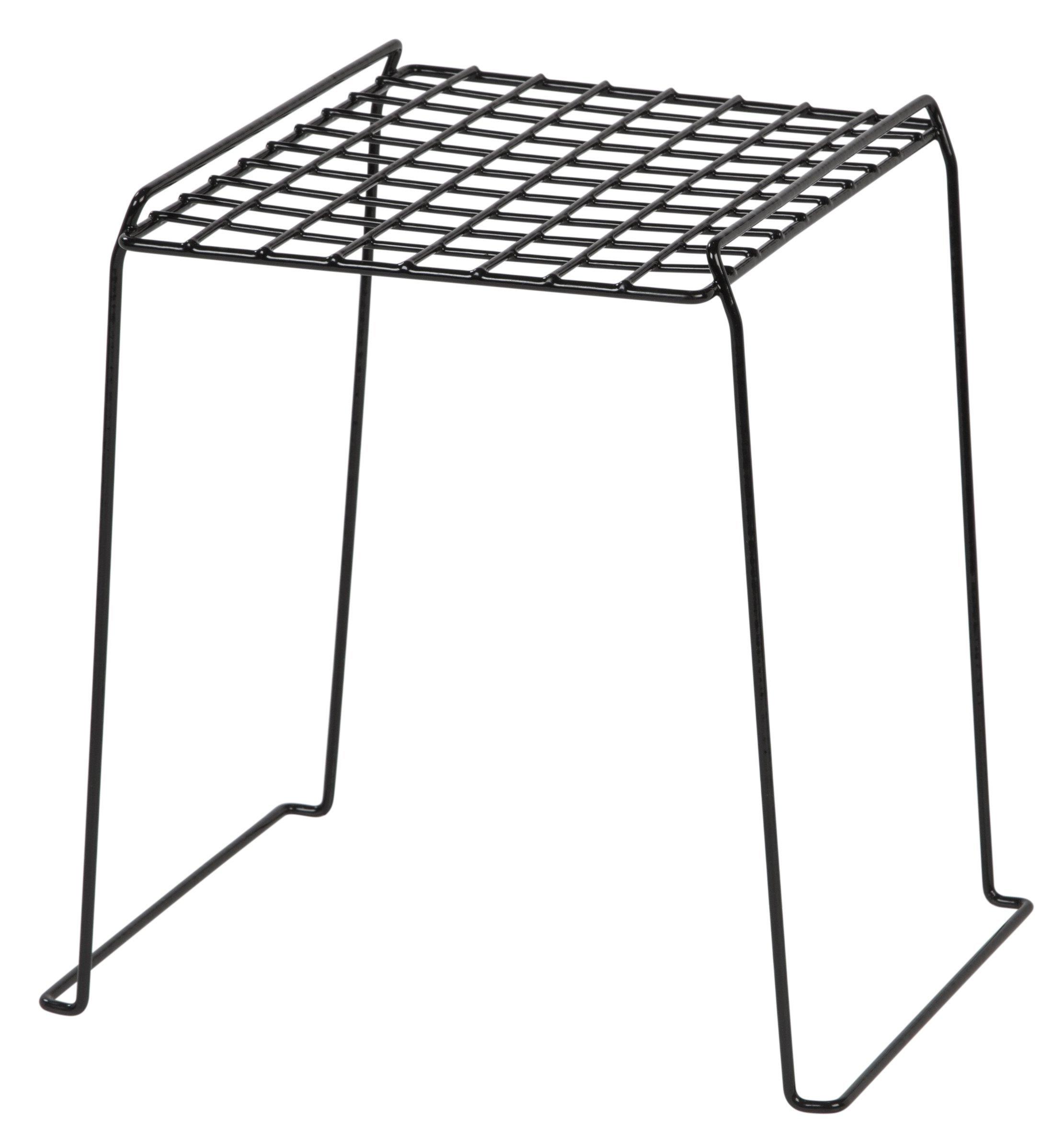 IRIS 12-inch Stackable Wire Locker Shelf, 4-pack, Black