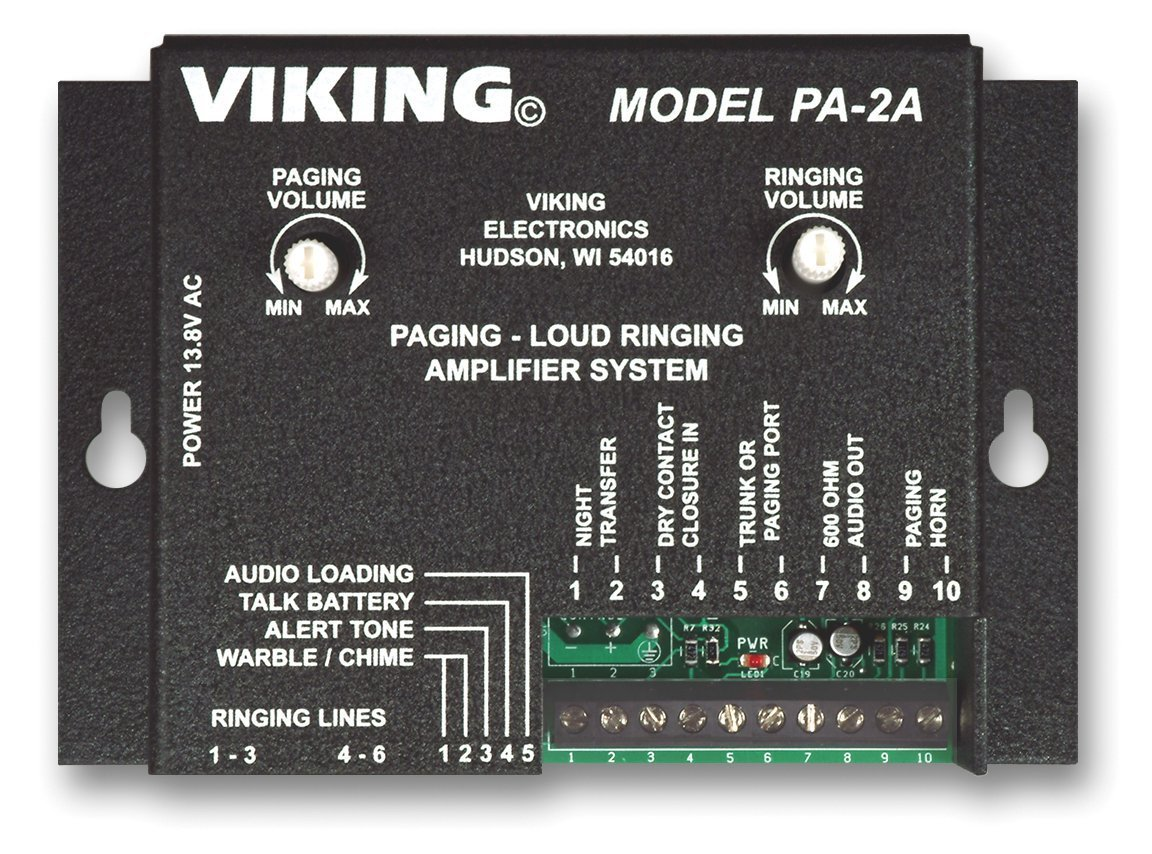 Viking Paging System with Amplifier and Speaker Horn Fully Powered for Use with Office Phones