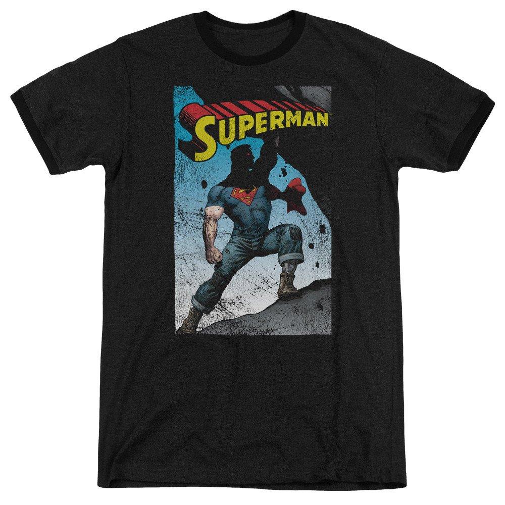 Alternate Adult Ringer T Shirt M Sons of Gotham Superman