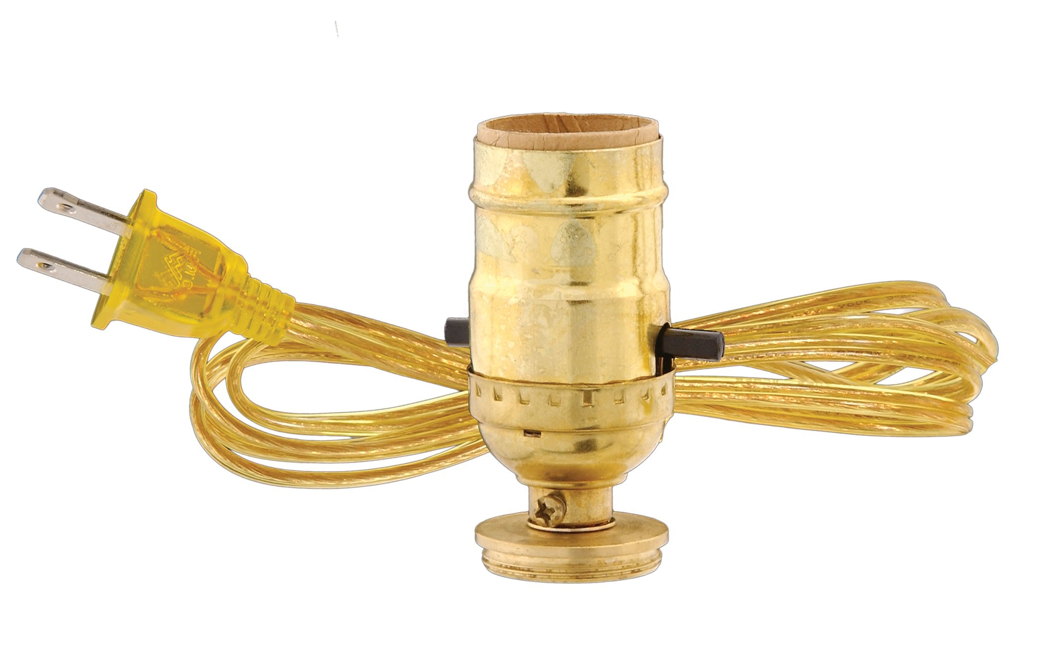 B&P Lamp #1 Oil To Elec. Adapter With Clear Gold Cord